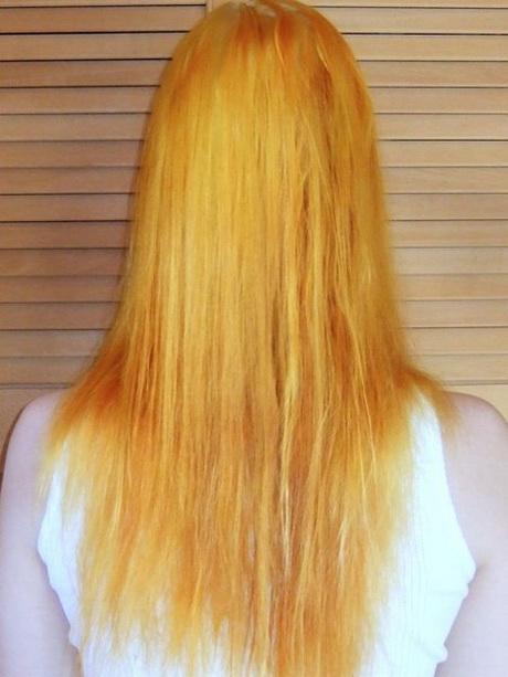 orange haare blond f rben. Black Bedroom Furniture Sets. Home Design Ideas