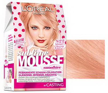 Rosa haarfarbe