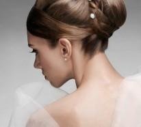 Brautfrisuren mittellang hochgesteckt for Innenarchitektur schulabschluss