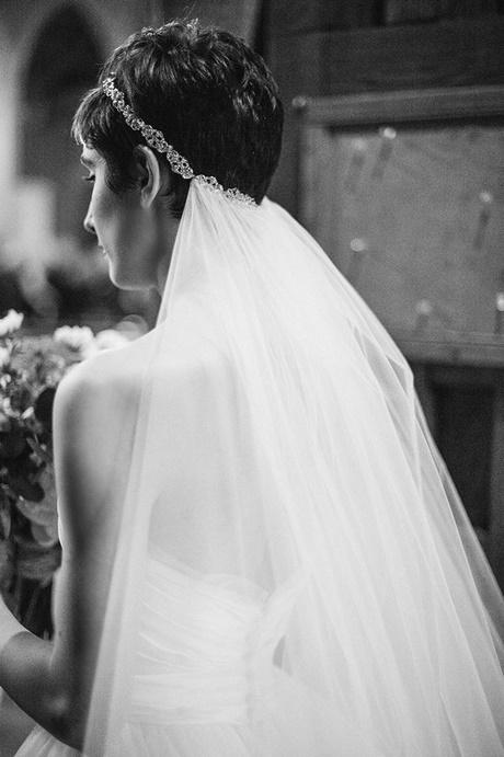 Kurze Haare Schleier Hochzeit
