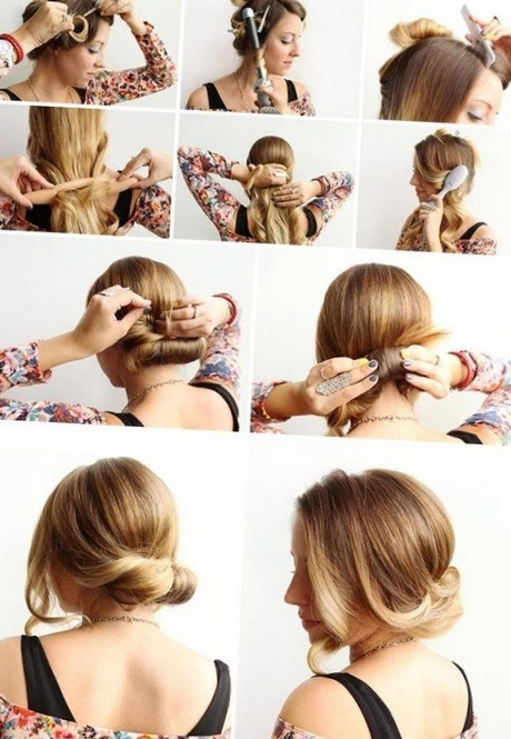 elegante frisuren halblange haare