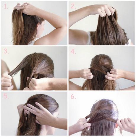 einfache frisuren zum selbermachen für lange haare