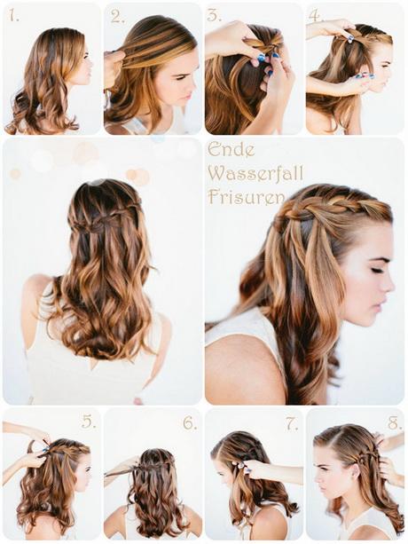 einfache frisuren für lange haare anleitung